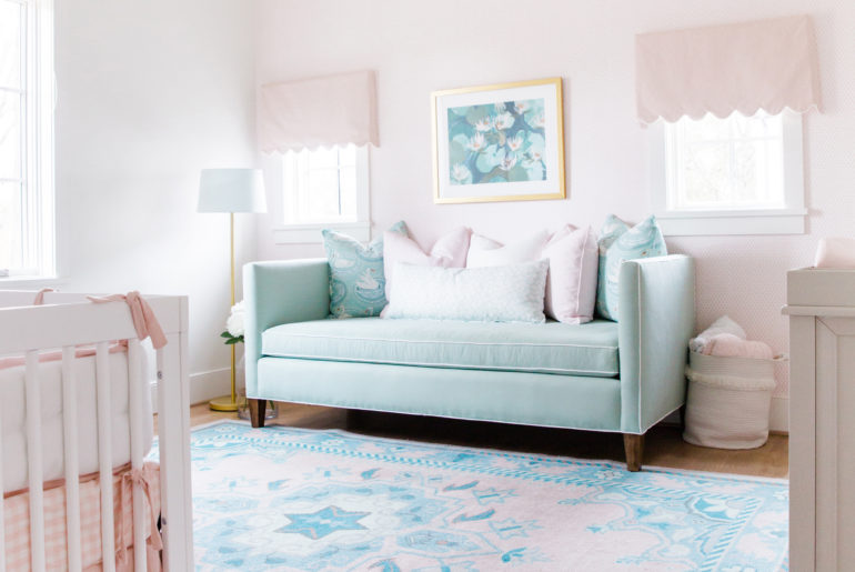 Georgie S Blush Pink Robin S Egg Blue Nursery Reveal Snapshots